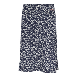 Weird Fish Malmo printed jersey skirt birds (W)