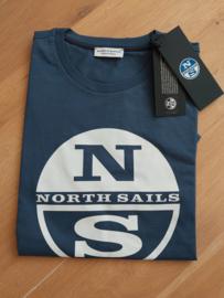 North Sails - T-SHIRT S/S W/GRAPHIC - Dark Denim - SS21