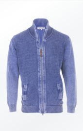 Piece of Blue full zip vest - Light Indigo Blue