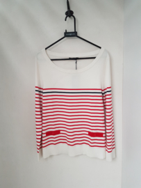 Henri Lloyd CATOLINA crew neck stripe knit - White