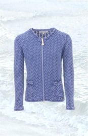 Piece of Blue Patern Cardigan - Indigo Blue