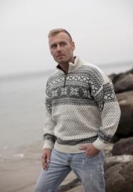 Noorse Trui van 100% pure nieuwe wol - ecru