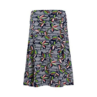 Weird Fish Malmo printed jersey skirt flowers (W)