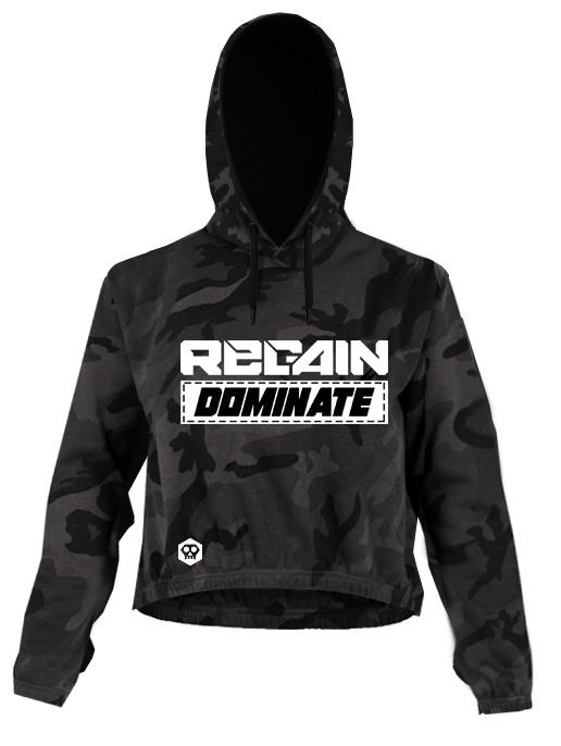 """Regain """"Dominate"""" Womens Cropped Hoodie"""