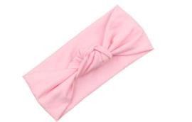 Haarband Baby Kleuter Peuter en Schoolkind licht roze knoop