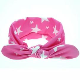 Haarband roze sterren