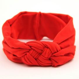 Haarband rood gevlochten