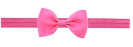 Haarband strikje knal roze