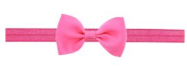 Haarband strik knal roze