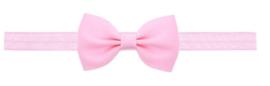 Haarband strik licht roze