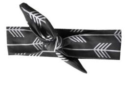 Haarband grijs met pijlen