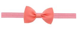 Haarband strik zalm roze