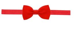 Haarband strik rood