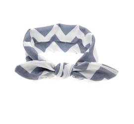 Haarband  zigzag grijs
