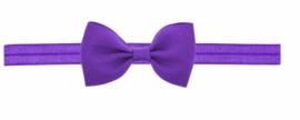 Haarband strik paars
