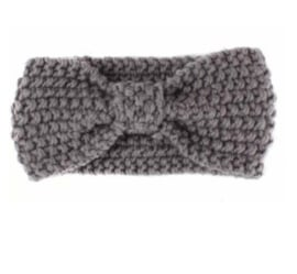 Haarband gehaakt grijs