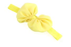 Haarband strik geel