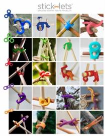 Stick-Lets Hexa Kit 12 stuks