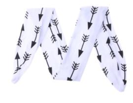 Haarband wit met zwarte pijlen
