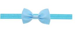 Haarband strik licht blauw