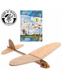 Vliegtuig katapult zelfbouwpakket Kids at work