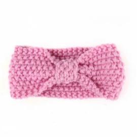 Haarband  gehaakt licht roze