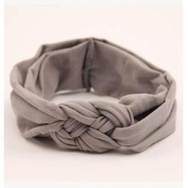 Haarband grijs gevlochten