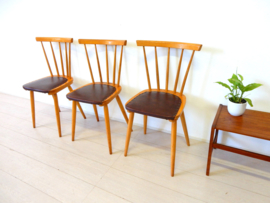 retro vintage stoel spijlenstoel eetkamerstoel jaren 50