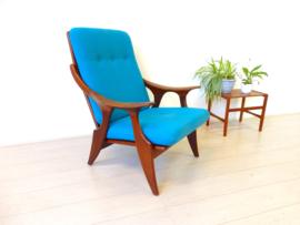 retro vintage De ster Gelderland fauteuil stoel jaren 60 teak