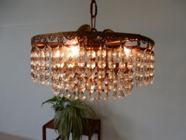 retro vintage antiek lamp hanglamp kroonluchter goud kleur