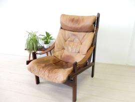 vintage TORBJØRN AFDAL fauteuil stoel Bruksbo jaren 60