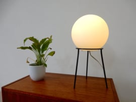 vintage tafellamp dressoir lamp jaren 50 bol melkglas