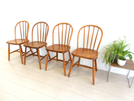 retro vintage stoel jaren 60 eetkamerstoel spijlenstoel
