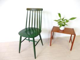 retro vintage stoel spijlenstoel eetkamerstoel pastoe