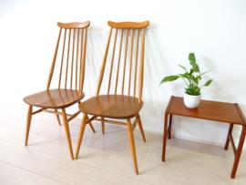 vintage stoel spijlenstoel eetkamerstoel Ercol Goldsmith