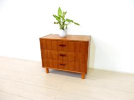 retro vintage ladekast kast dressoir jaren 60 laag model