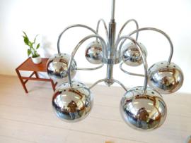 Vintage lamp hanglamp plafondlamp jaren 60 chroom bol