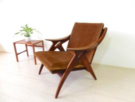 vintage De ster Gelderland De knoop fauteuil stoel jaren 60