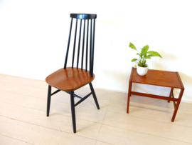 retro vintage stoel spijlenstoel jaren 60 Tapiovaara pastoe hoog model