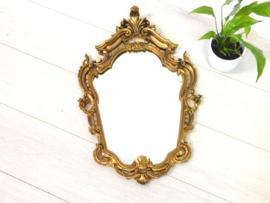 retro vintage spiegel goud brocante