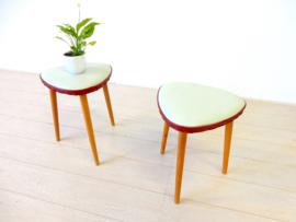retro vintage kruk stoel jaren 50 bijzettafel plantentafel