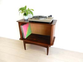 vintage kast dressoir jaren 60 lp kast platen audiomeubel