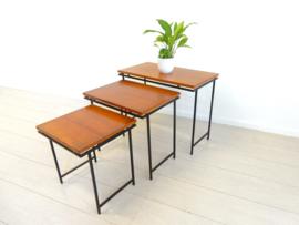 retro vintage bijzettafel plantentafel jaren 60 mimiset