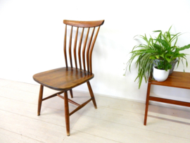retro vintage stoel Akerblom spijlenstoel jaren 50 zweden