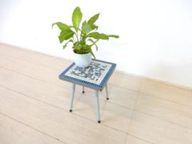 retro vintage bijzettafel plantentafel jaren 60 mozaiek