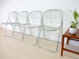 Vintage stoelen draadstoel klapstoel Niels Gammelgaard Ikea jaren 80