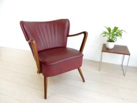 vintage club fauteuil cocktail fauteuil stoel jaren 50 / 60