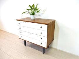 retro vintage ladekast kast dressoir jaren 60 tv meubel