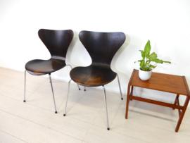 retro vintage 1976 stoel Arne Jacobsen Fritz Hansen vlinderstoel