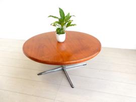 retro vintage salontafel tafel jaren 60 / 70 rond hout